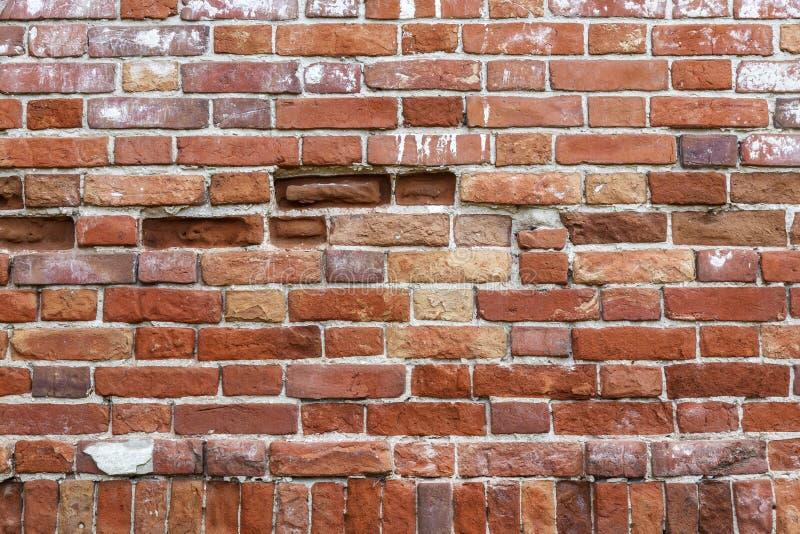 Fundo com século XIX da textura da parede da alvenaria 1872 anos Construção histórica da região de Volga, a região de Saratov, um imagens de stock royalty free