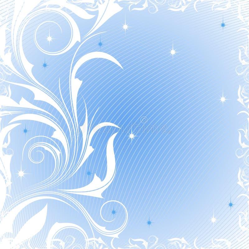 Fundo com testes padrões gelados ilustração do vetor