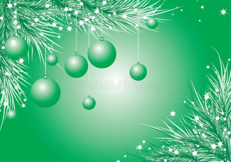 Fundo com uma árvore de abeto, vetor do Natal ilustração stock