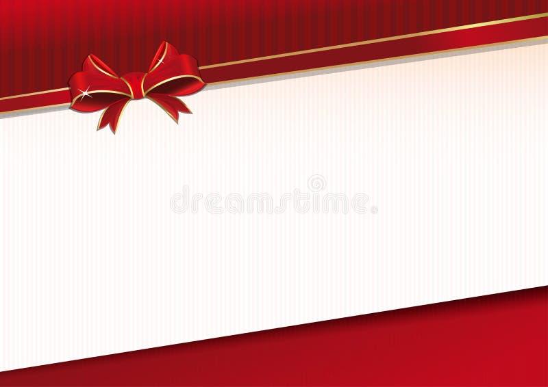 Fundo comemorativo com fita e curva vermelhas ilustração royalty free