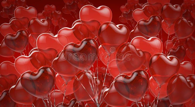 Fundo comemorativo de balões vermelhos ilustração royalty free