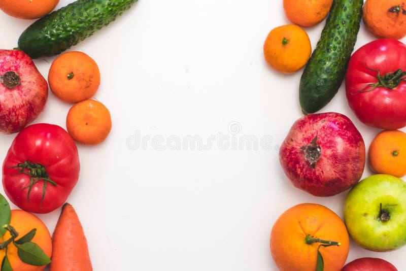 Fundo comer, alimento do vegetariano e conceito limpos saudáveis da nutrição da dieta fotografia de stock