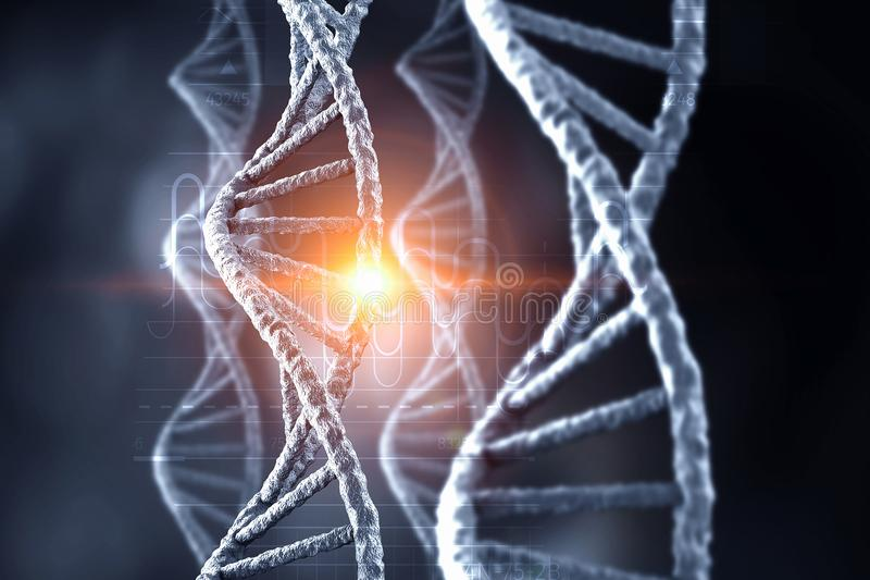 Fundo conceptual da biotecnologia foto de stock