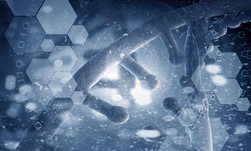 Fundo conceptual da biotecnologia ilustração royalty free