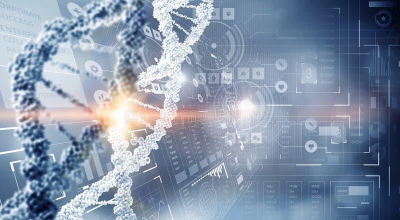Fundo conceptual da biotecnologia foto de stock royalty free