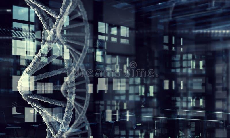 Fundo conceptual da biotecnologia Meios mistos ilustração stock