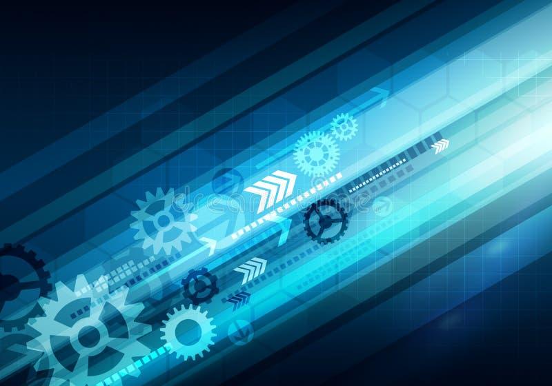 Fundo conceptual da tecnologia do negócio de Digitas com seta e imagens de stock