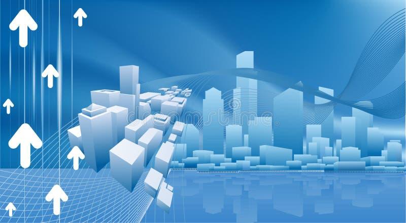 Fundo conceptual do negócio da cidade ilustração do vetor