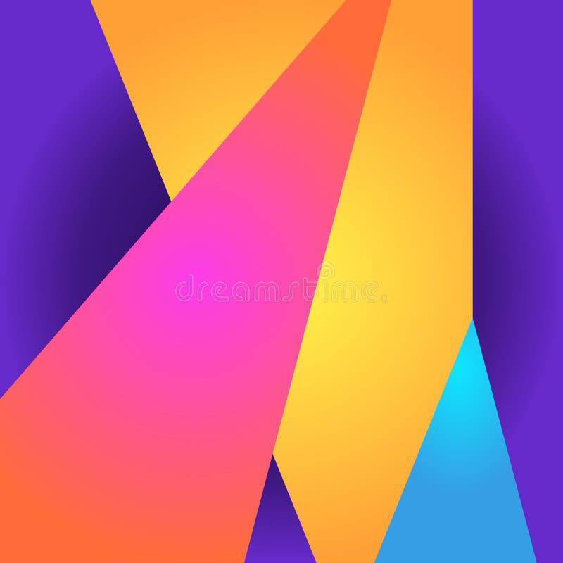 Fundo conceptual em cores vibrantes Bandeira, cópia para a tela ilustração stock