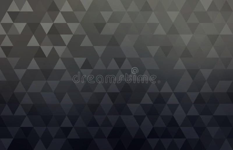 Fundo conceptual geométrico preto do sumário do negócio Teste padrão triangular simples das formas ilustração royalty free