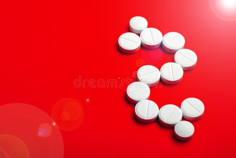 Fundo conceptual no tema comercial da farmacologia imagem de stock