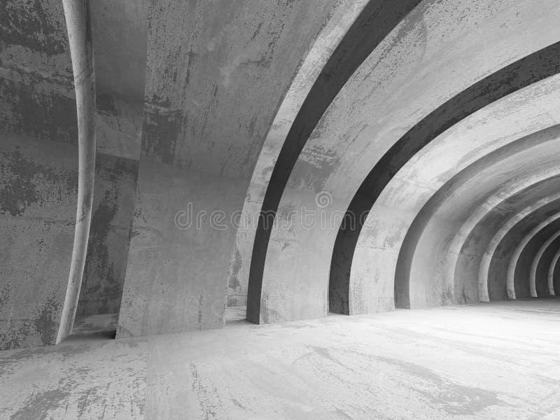 Fundo concreto abstrato da arquitetura Quarto escuro vazio ilustração do vetor