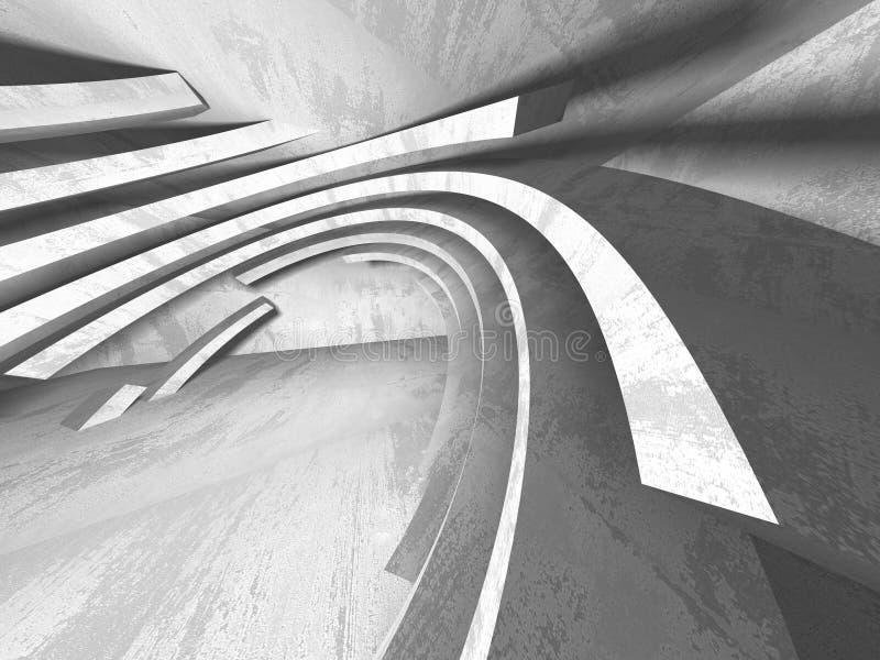 Fundo concreto da arquitetura Sala escura vazia abstrata ilustração stock