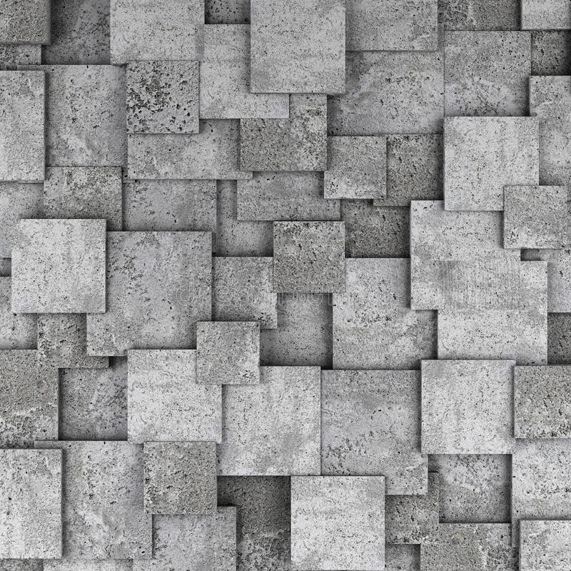 Fundo concreto da parede do cubo 3d ilustração do vetor