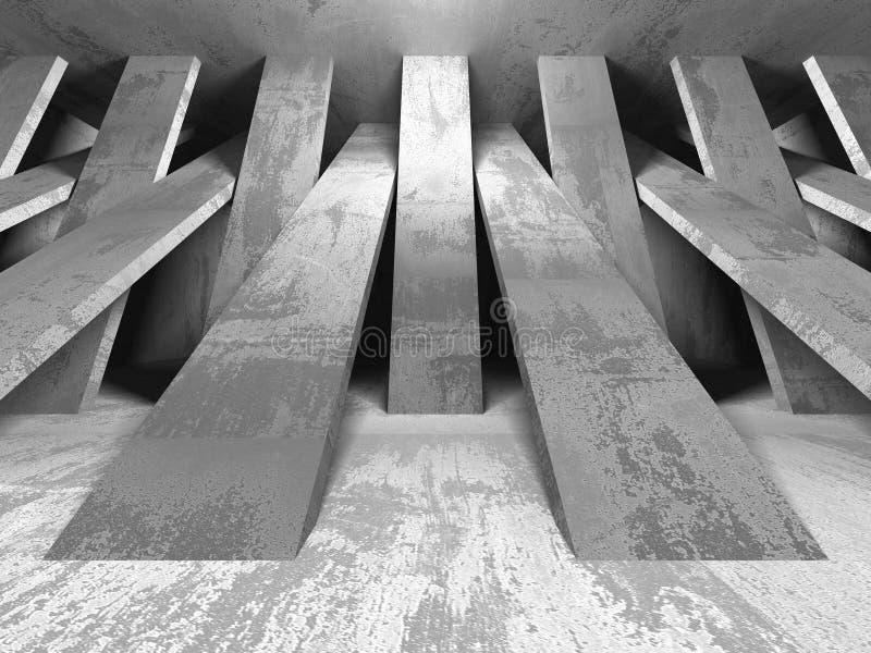 Fundo concreto geométrico abstrato da arquitetura ilustração stock