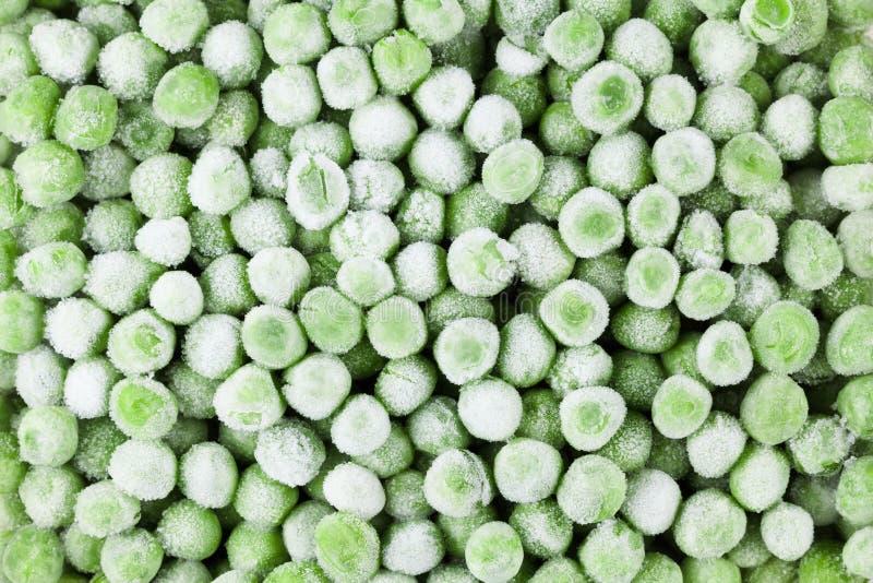Fundo congelado vegetal do alimento das ervilhas, refeição natural saudável imagem de stock