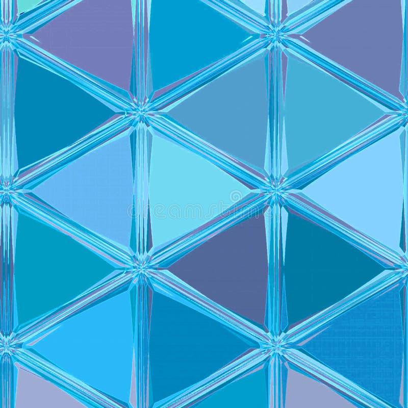 Fundo contínuo azul de néon dos triângulos ilustração do vetor