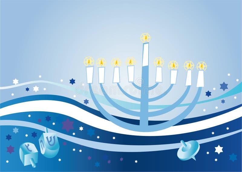 Fundo contente ao feriado judaico Hanukkah ilustração royalty free