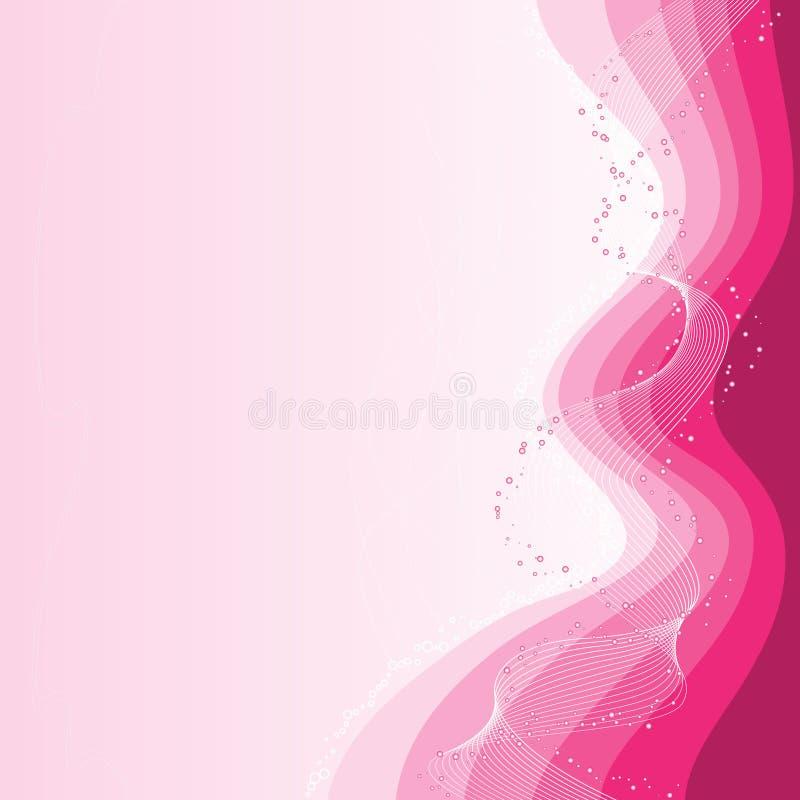 Fundo cor-de-rosa ilustração do vetor