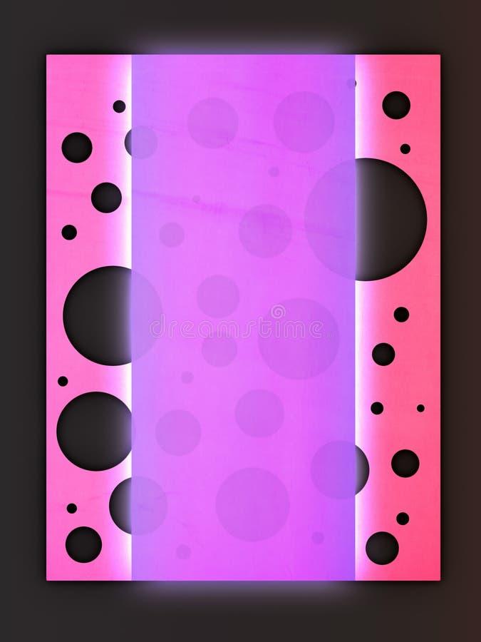Fundo cor-de-rosa & roxo creativo ilustração stock