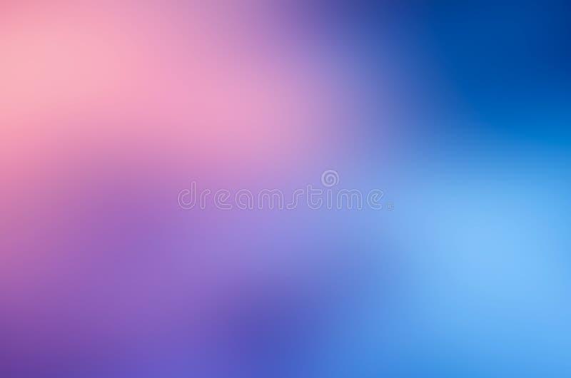 Fundo cor-de-rosa azul do sumário do borrão foto de stock