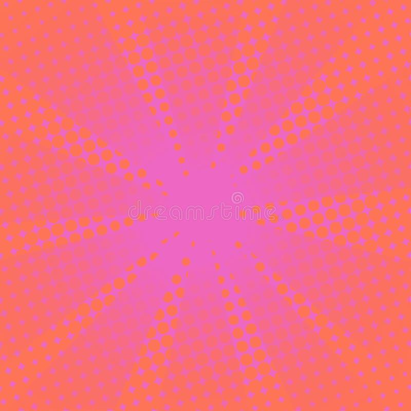 Fundo cor-de-rosa cômico dos raios retros ilustração royalty free