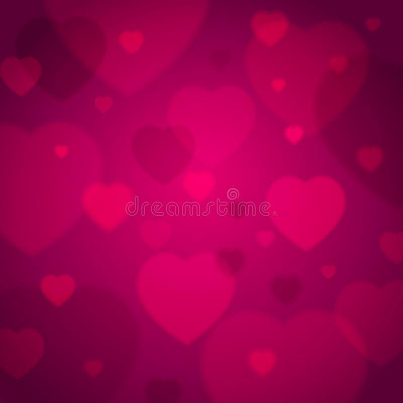 Fundo cor-de-rosa com corações do Valentim, vetor ilustração royalty free