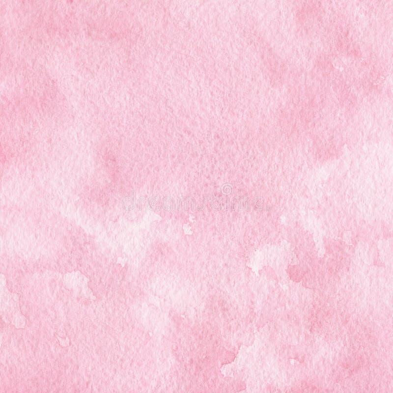Fundo cor-de-rosa da aguarela Útil como uma textura para convites do casamento, projeto de cartões e mais ilustração do vetor