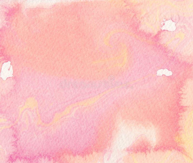 Fundo cor-de-rosa da aguarela Desenho de Digitas ilustração royalty free