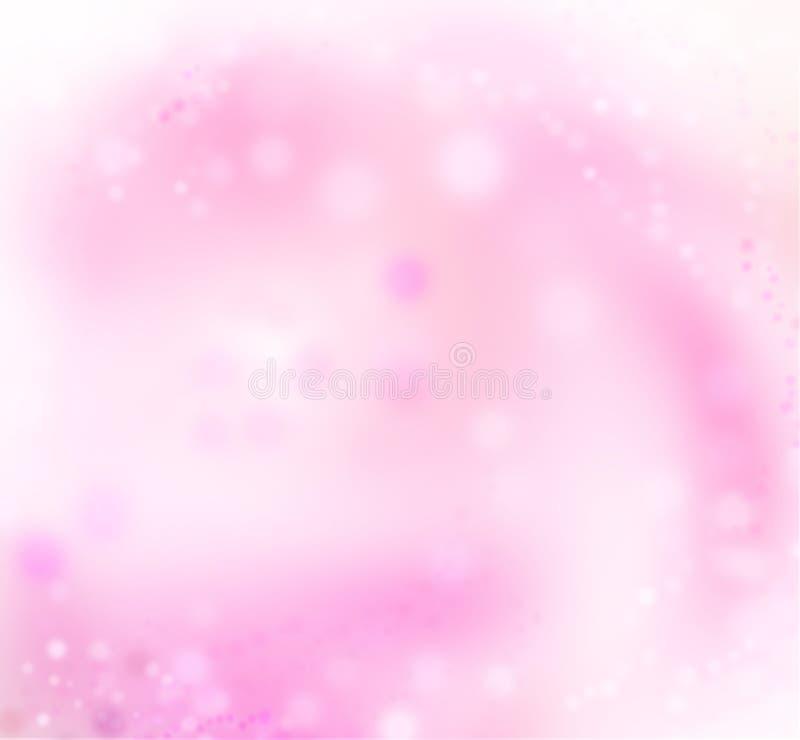 Fundo cor-de-rosa da luz do feriado do sumário da arte imagem de stock royalty free