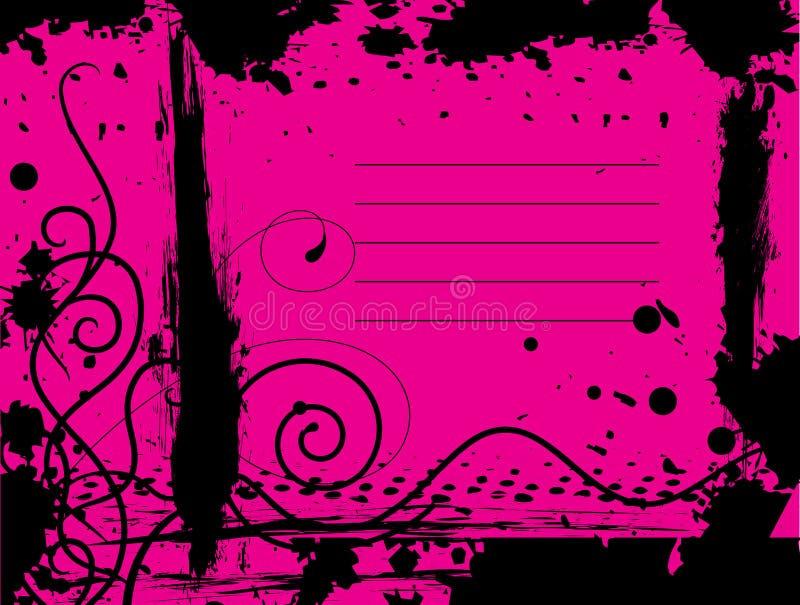Fundo cor-de-rosa de Grunge ilustração stock