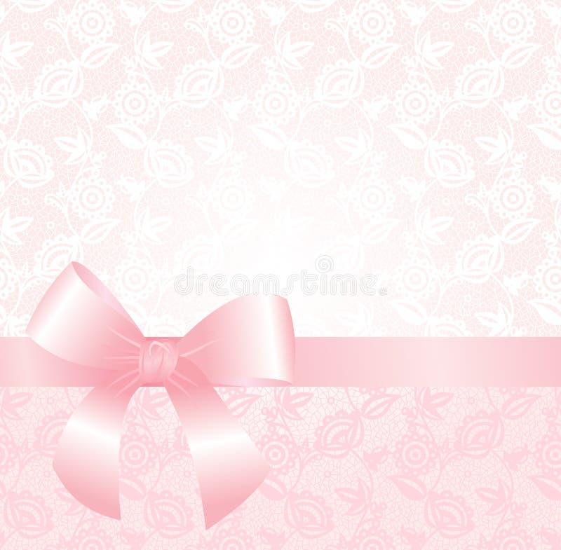 Fundo cor-de-rosa delicado do laço ilustração stock