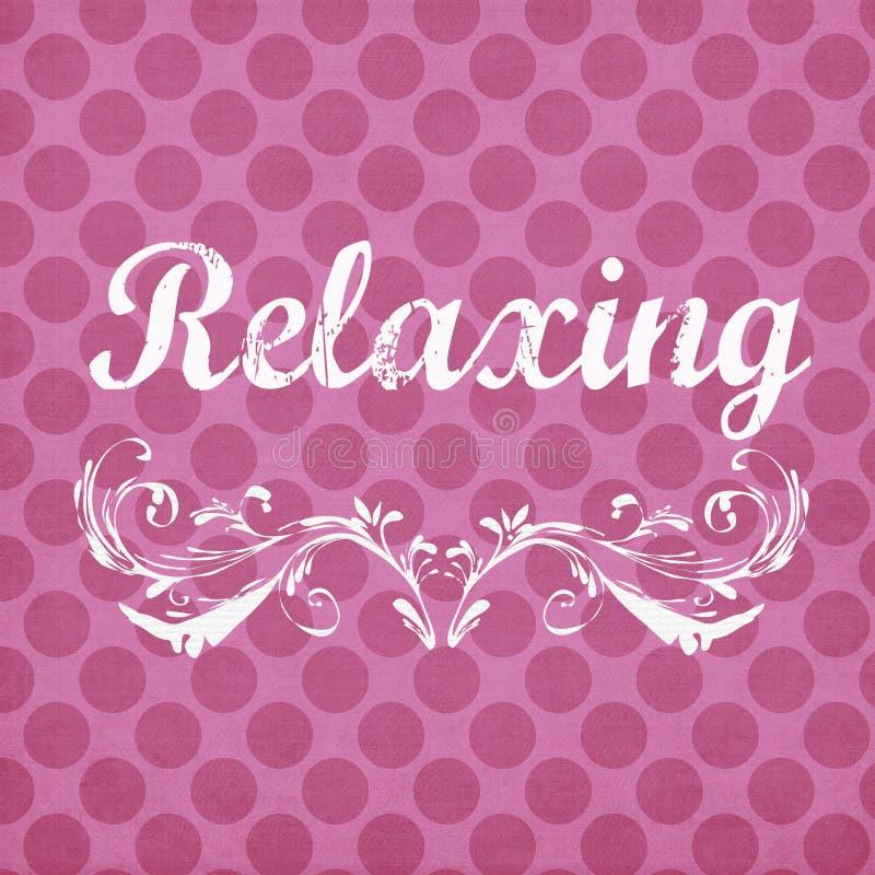 Fundo cor-de-rosa do às bolinhas com sentimento de relaxamento imagens de stock royalty free