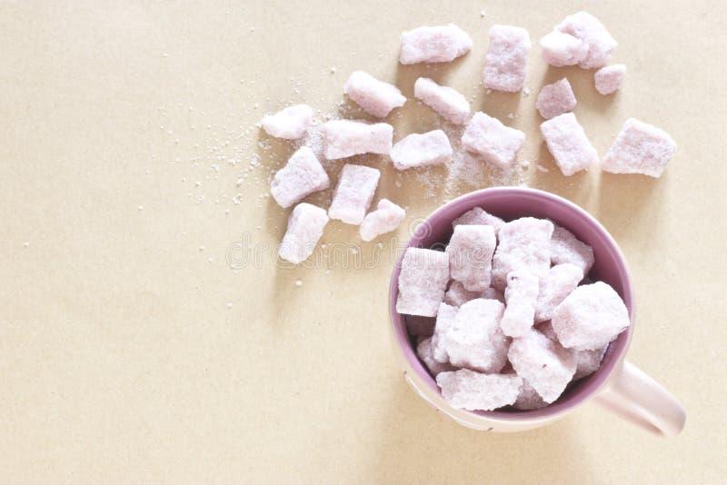 Fundo cor-de-rosa do açúcar fotos de stock royalty free