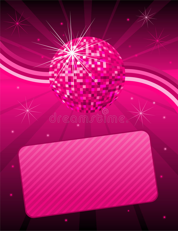 Fundo cor-de-rosa do disco ilustração stock