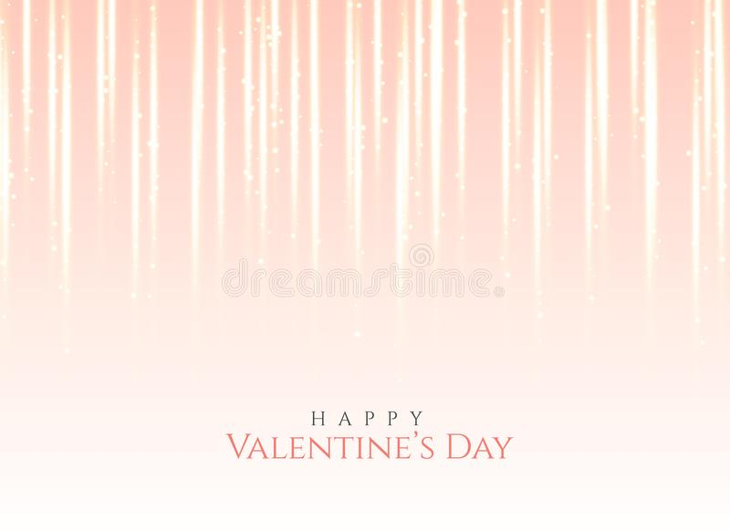 Fundo cor-de-rosa do efeito da luz para o dia do ` s do Valentim ilustração stock