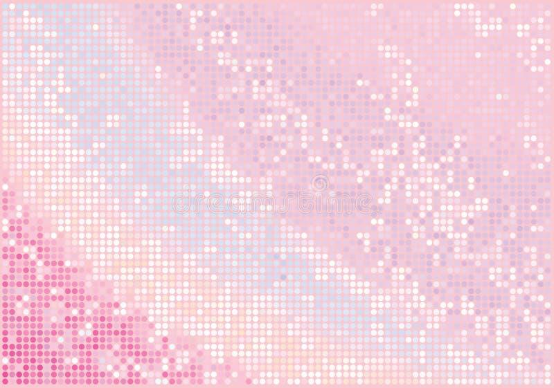 Fundo cor-de-rosa do encanto ilustração stock