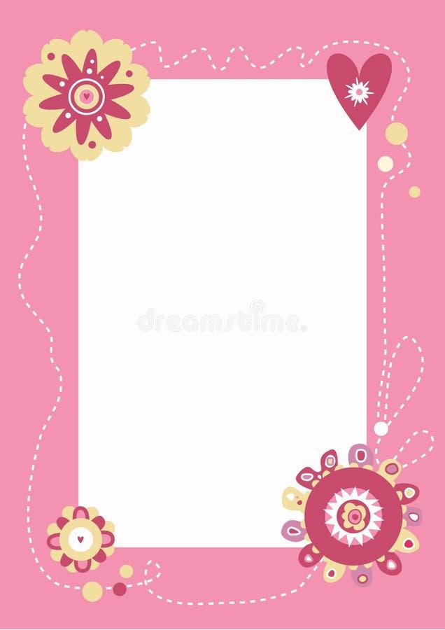 Fundo cor-de-rosa do frame ilustração royalty free