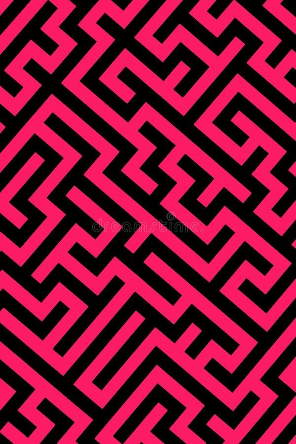 Fundo cor-de-rosa do labirinto ilustração stock