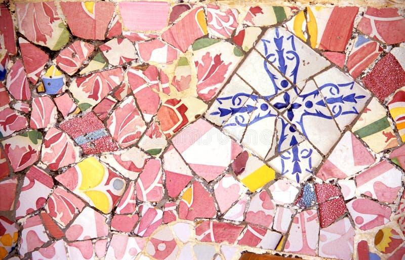 Fundo cor-de-rosa do mosaico foto de stock
