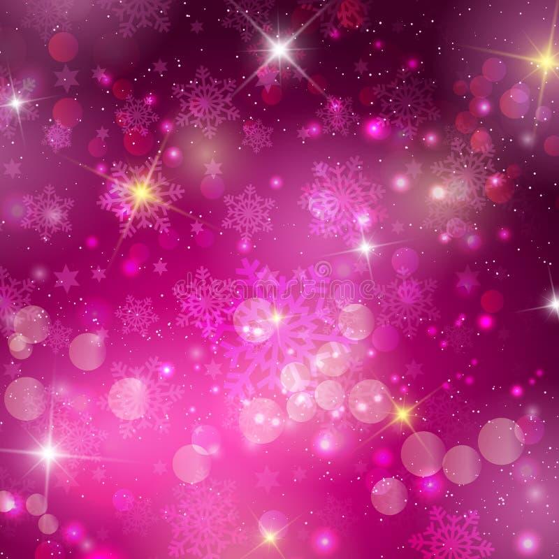 Fundo cor-de-rosa do Natal ilustração stock