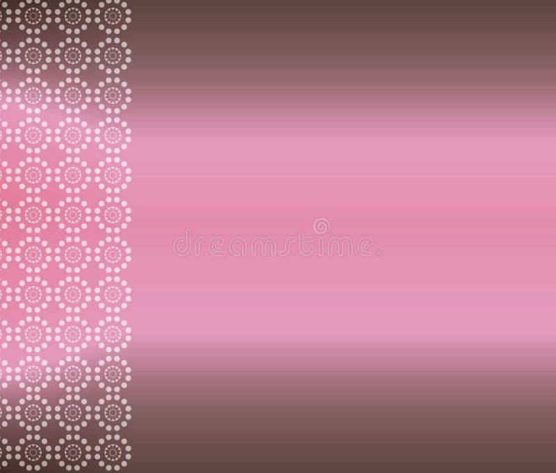Fundo cor-de-rosa do papel de parede de Brown ilustração royalty free