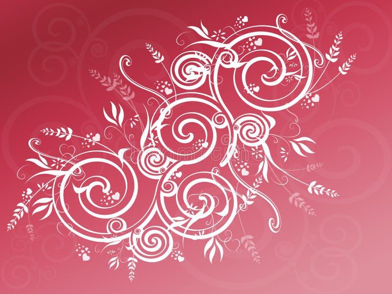 Fundo cor-de-rosa do redemoinho ilustração royalty free