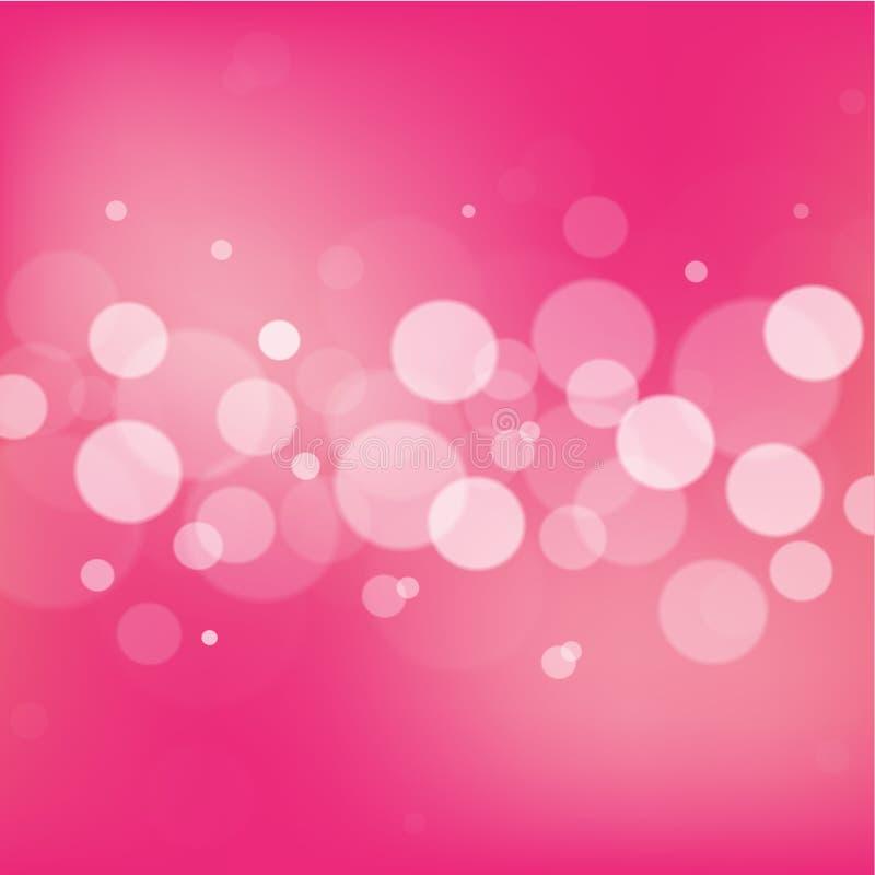 Fundo cor-de-rosa do sumário do bokeh ilustração royalty free