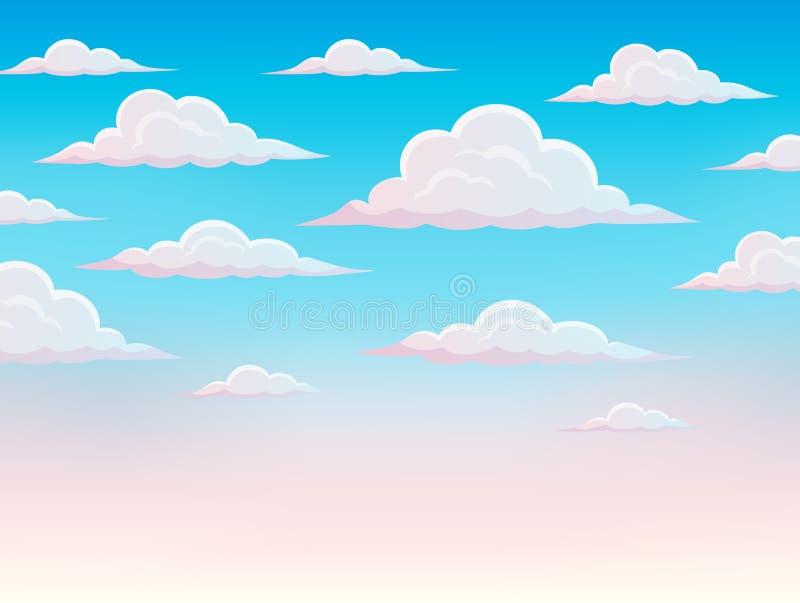 Fundo cor-de-rosa 1 do tema do céu ilustração royalty free
