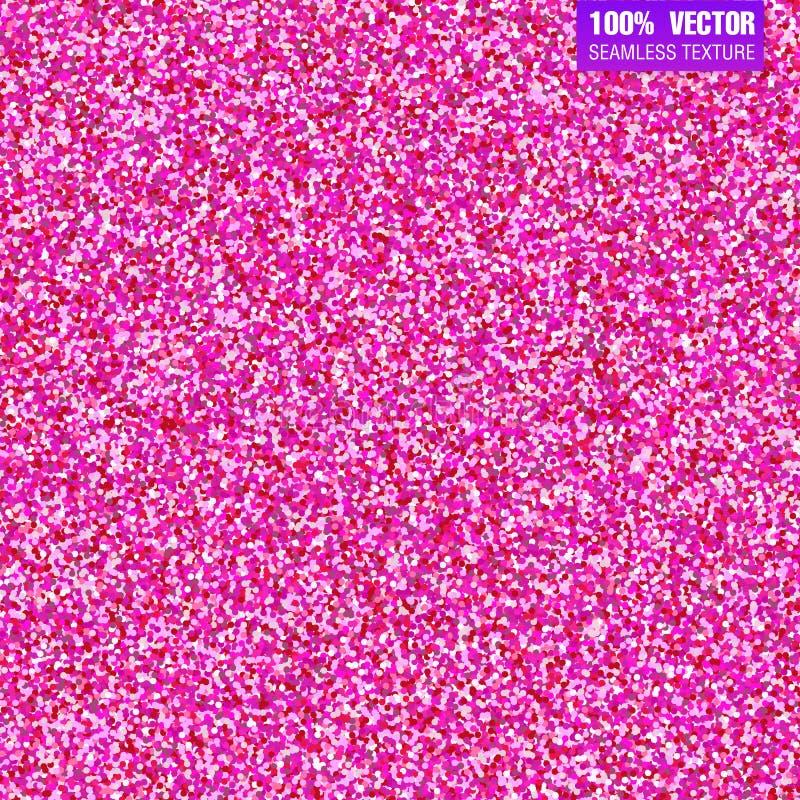 Fundo cor-de-rosa do vetor do brilho Convite sem emenda do casamento do teste padrão, dia de são valentim Presente efervescente f ilustração stock