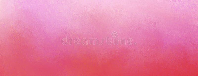 Fundo cor-de-rosa do vintage com textura e projeto roxos afligidos da beira da cor pastel ilustração do vetor
