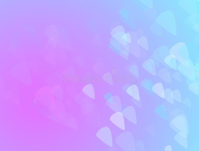 Fundo cor-de-rosa e azul de Absstract com triângulos pequenos imagem de stock