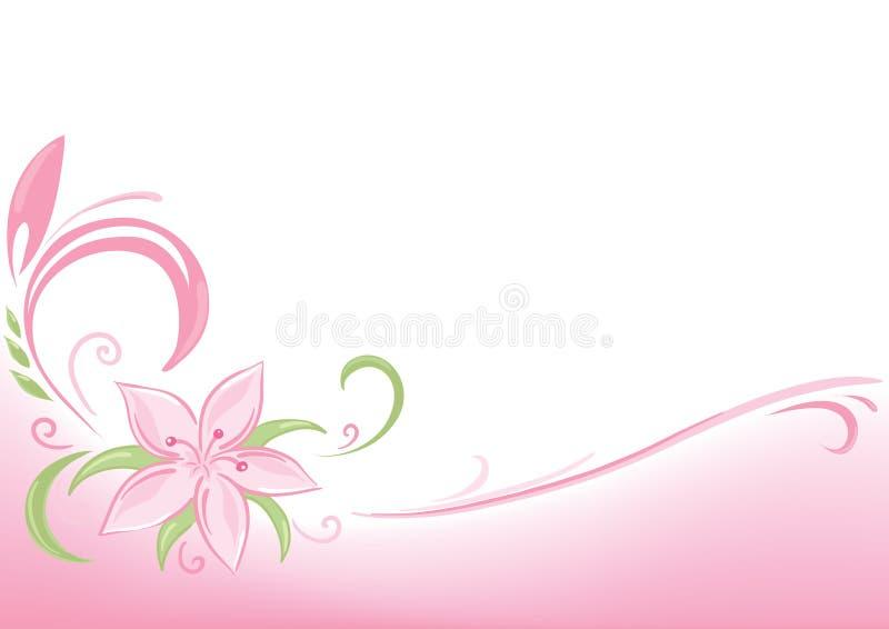 Fundo cor-de-rosa floral ilustração do vetor