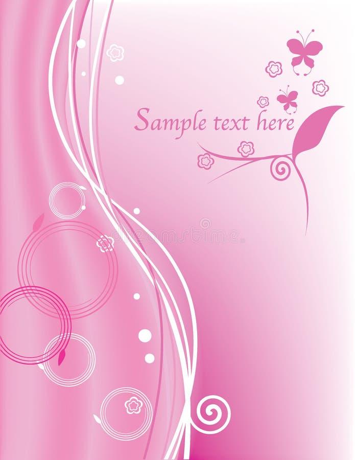 Fundo cor-de-rosa floral abstrato ilustração do vetor